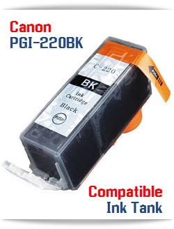 PGI-220BK Black Compatible Canon Pixma printer Ink Cartridge W/ Chip