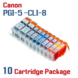 10 Cartridge Package - PGI-5 - CLI-8 Compatible Canon Pixma Ink Cartridges