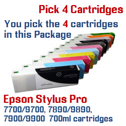 Pick 4 Create your own Package by selecting the cartridges you want