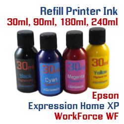 Refill Ink Epson Expression Home XP, WorkForce Printers