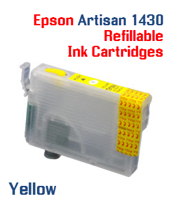 Yellow Epson Artisan 1430 Refillable printer ink cartridges