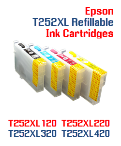 Refillable ink cartridges Epson WorkForce WF-3620, WF-3640 Printers