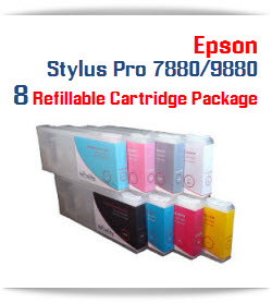 Epson Stylus Pro 7880/9880 8 Refillable Cartridge Package