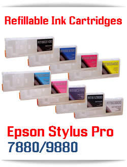 Epson Stylus Pro 7880/9880 Refillable Ink Cartridges