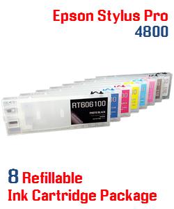 Refillable Epson Stylus Pro 4800 compatible ink cartridges 300ml