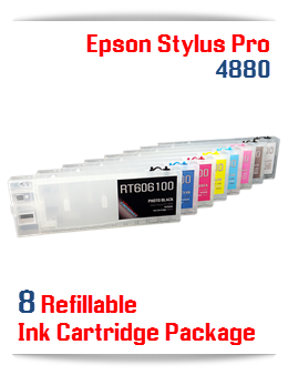 Refillable Epson Stylus Pro 4880 compatible ink cartridges 300ml