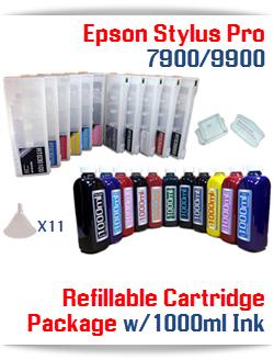 Refillable Ink Cartridge package Epson Stylus Pro 7900