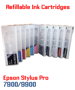 Refillable Ink Cartridges Epson Stylus Pro 7700, 9700, 7890, 9890, 7900, 9900 Printers