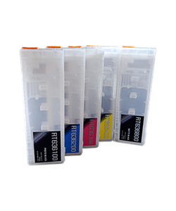 5-Epson Stylus Pro 7700/9700 Refillable Ink Cartridges 700ml