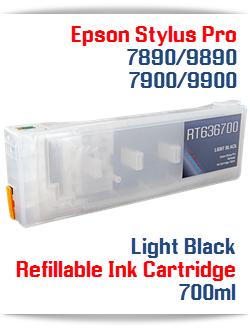 Light Black Refillable Ink Cartridge Epson Stylus Pro 7900/9900 printers