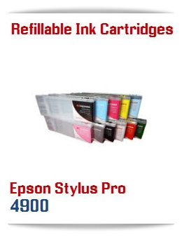 Refillable Epson Stylus Pro 4900 Ink Cartridges