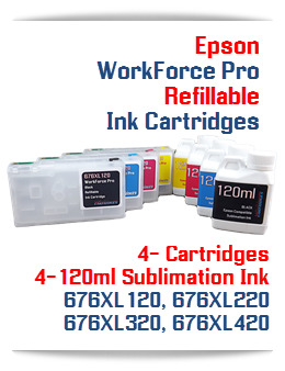 Sublimation Ink and Refillable Ink Cartridges Epson WorkForce Pro