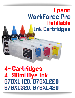 Dye Ink and Refillable Ink Cartridges Epson WorkForce Pro printers