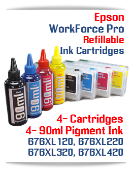 Pigment Ink and Refillable Ink Cartridges Epson WorkForce Pro printers