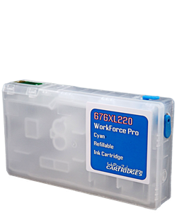 Cyan 676XL220 Workforce Pro WP Refillable ink cartridge