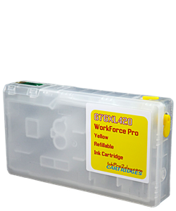 Yellow 676XL420 Workforce Pro WP Refillable ink cartridge