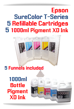 5 Refillable SureColor T-Series Cartridges 700ml