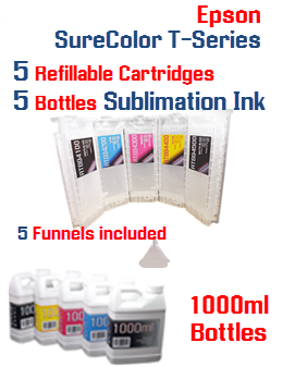Sublimation Ink Package Deal EPSON SureColor T-Series Refillable Printer Ink Cartridge 700ml by InkPro2day
