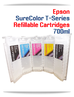 Refillable Epson SureColor T-Series Cartridges 700ml