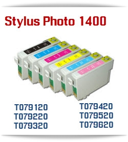 Epson Stylus Photo 1400 Compatible printer Ink Cartridges