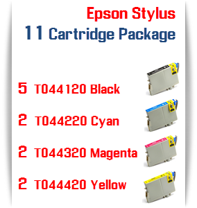 11 Cartridge Special T044 Epson Compatible Ink Cartridges