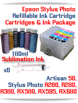 Epson Stylus Photo Refillable Sublimation Ink Package
