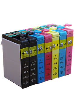 7 Cartridge Package Epson Artisan 810 printer compatible ink cartridges