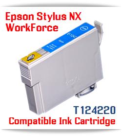 Epson T124220 Cyan Stylus NX, WorkForce Compatible Printer Ink Cartridge