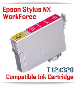 Epson T124320 Magenta Stylus NX, WorkForce Compatible Printer Ink Cartridge