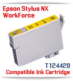 Epson T124420 Yellow Stylus NX, WorkForce Compatible Printer Ink Cartridge