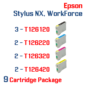 Epson Stylus NX, WorkForce 9 Ink Cartridge Package
