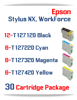 30 Cartridge Package T127 WorkForce Compatible Ink Cartridges