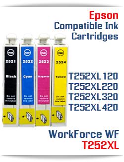 T252XL Epson WorkForce WF printer compatible ink cartridges