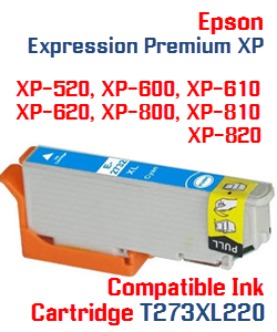 T273XL220 Cyan High-capacity Expression Premium XP Compatible Ink Cartridge