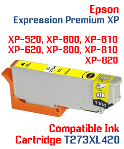 T273XL420 Yellow High-capacity Expression Premium XP Compatible Ink Cartridge