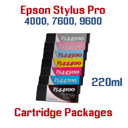 Package Deals Epson Stylus Pro 4000, 7600, 9600 T544 Ink Cartridges