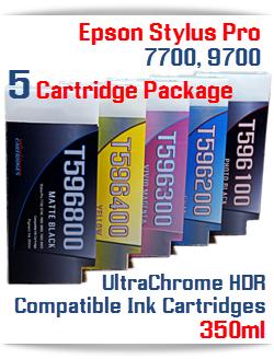 Epson Stylus Pro 7700/9700 5 Cartridge Package 350ml