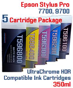 Epson Stylus Pro 7700/9700 5 Cartridge Package
