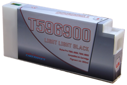 T596900 Light Light Black Epson Compatible UltraChrome HDR Pigment Ink Cartridges 350ml