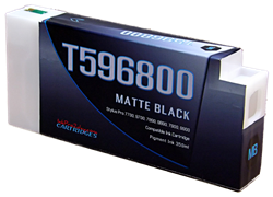 T596800 Matte Black Epson Compatible UltraChrome HDR Pigment Ink Cartridges 350ml