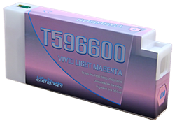 T596600 Vivid Light Magenta Epson Compatible UltraChrome HDR Pigment Ink Cartridges 350ml