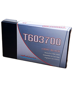 T603700 Light Black Epson Stylus Pro 7800/9800 Compatible Pigment Ink Cartridges 220ml