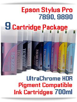 9 Cartridge Package Epson Stylus Pro 7890, 9890 printers