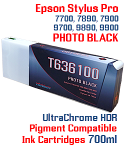 T636100 Photo Black Stylus Pro Ink Cartridge 700ml