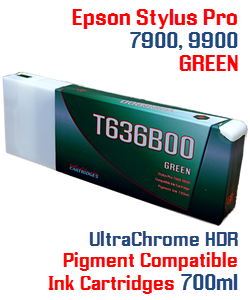 T636B00 - Green Epson Stylus Pro Ink Cartridge