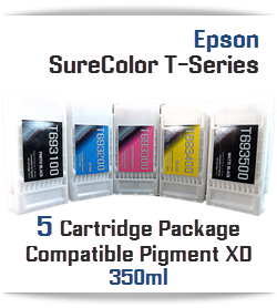 5 Cartridge Package Epson SureColor T-Series 350ml