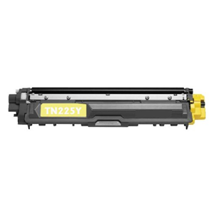 TN225Y Yellow Brother Compatible Toner Cartridge - Works with:  HL Printers: HL-3140CW, HL-3170CDW, MFC MultiFunction Printers: MFC-9130CW, MFC-9330CDW, MFC-9340CDW