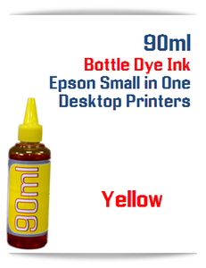 Yellow 90ml Bottle DYE Ink Epson Desktop Small Format Printers