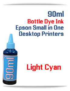 Light Cyan 90ml Bottle DYE Ink Epson Desktop Small Format Printers