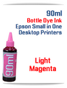 Light Magenta 90ml Bottle DYE Ink Epson Desktop Small Format Printers